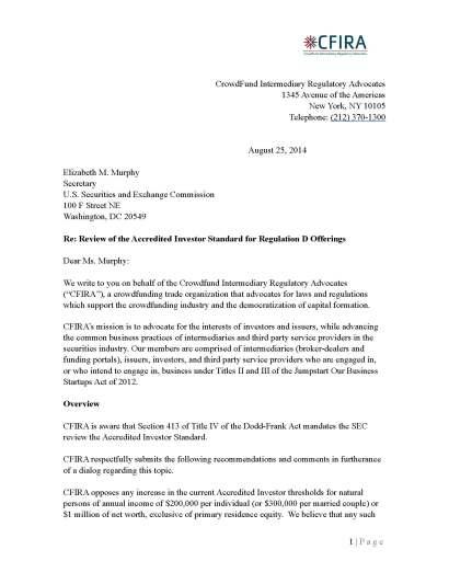 CIFRA Letter