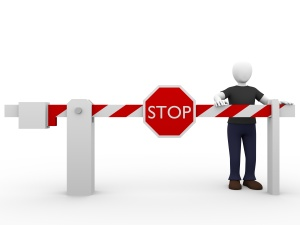 stop barrier man