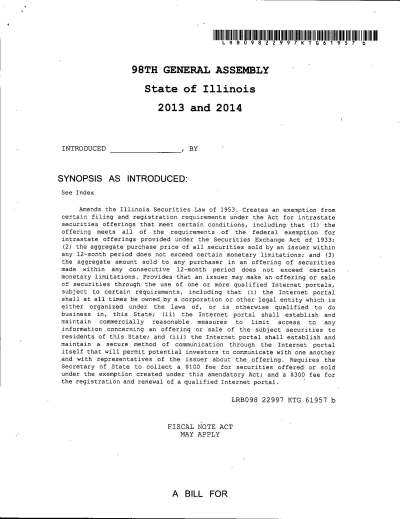 Pages from Formal Bill