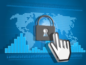 Secure or blocked Internet access concept