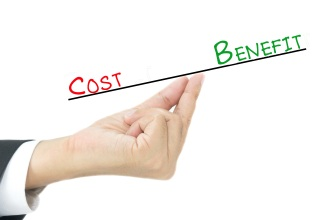 Benefit vs Cost comparison on hand