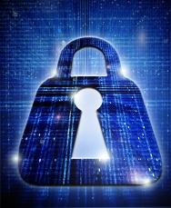 padlock digtal security concept iluustration